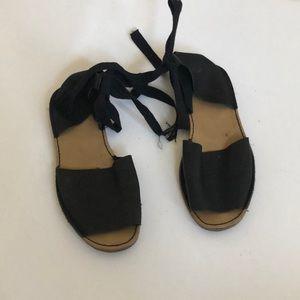 Top shop Tie up sandals size 6